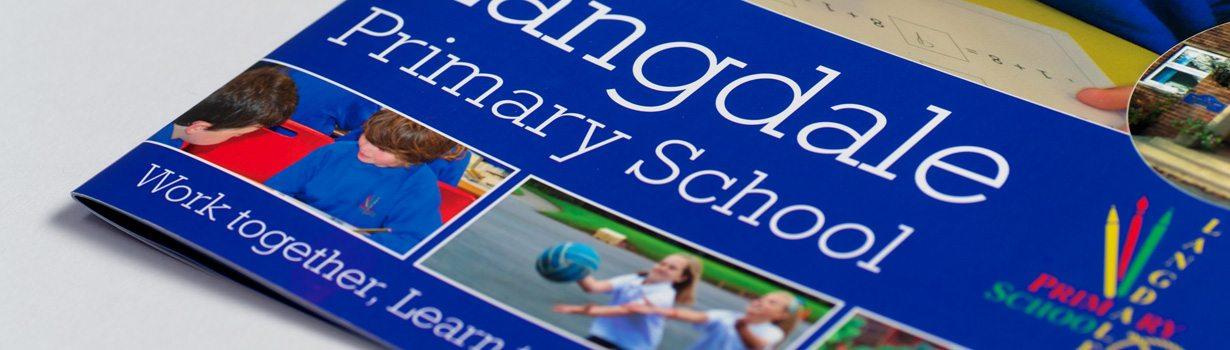 Printed Oversized school prospectus