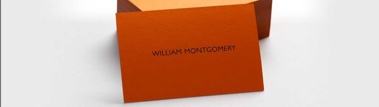 Extra thick printed business cards