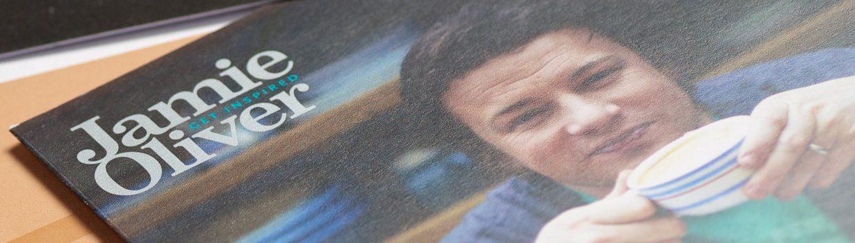 Jamie Oliver printed postcards