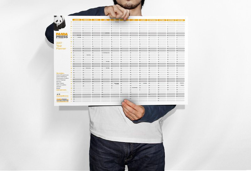 Request your free academic wall planner from Panda Press