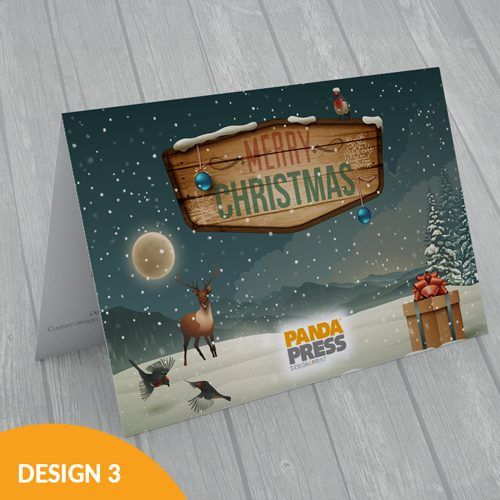 Printed corporate Christmas card