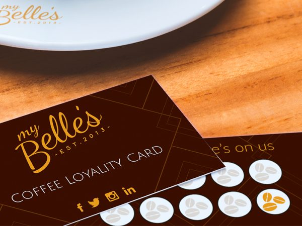 Coffee shop loyalty cards