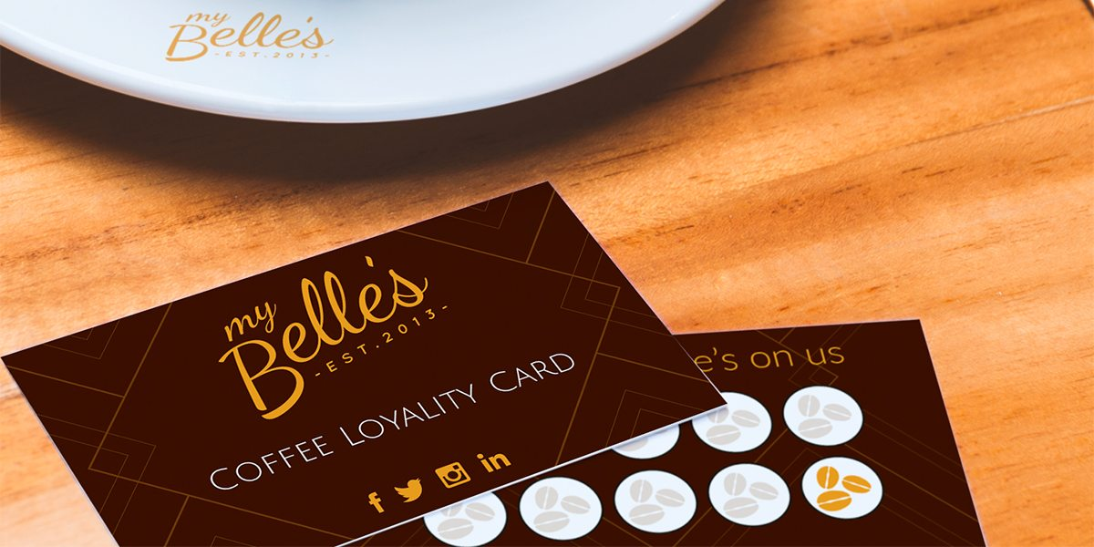 Coffee shop loyalty cards