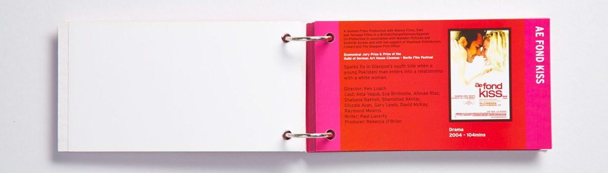 Printed ring-bound brochure