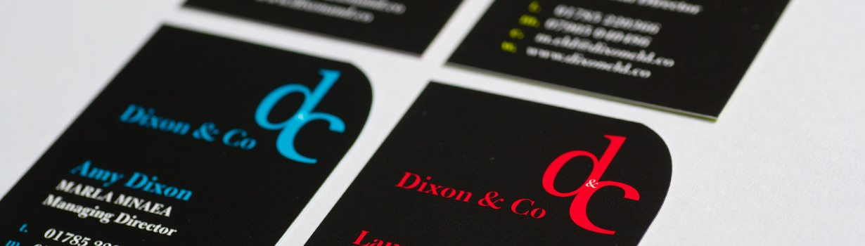 Die cut litho business cards