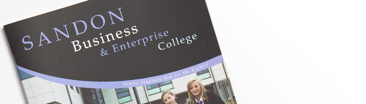 Printed school folder and prospectus