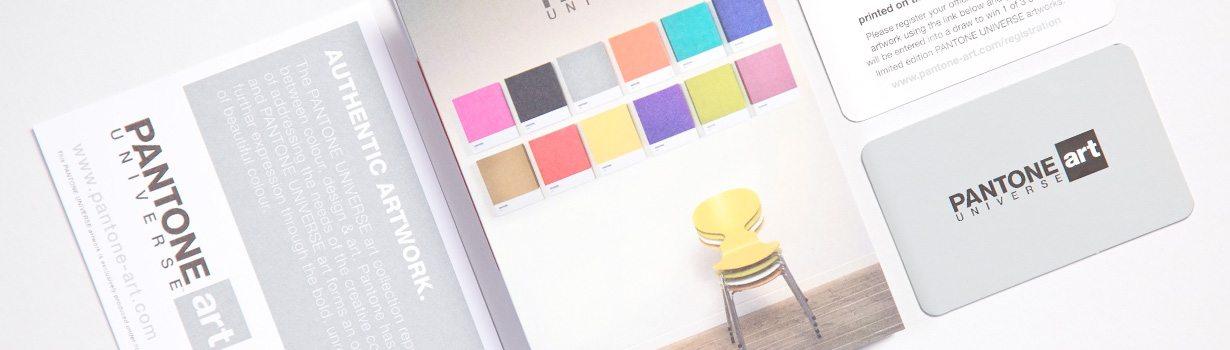 Suite of printed Pantone items