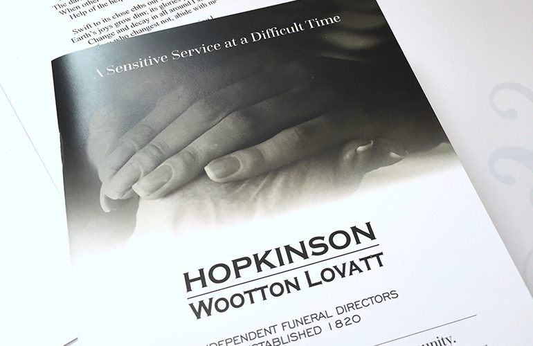 printing for funeral directors