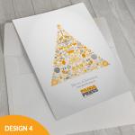 Printed corporate Christmas card