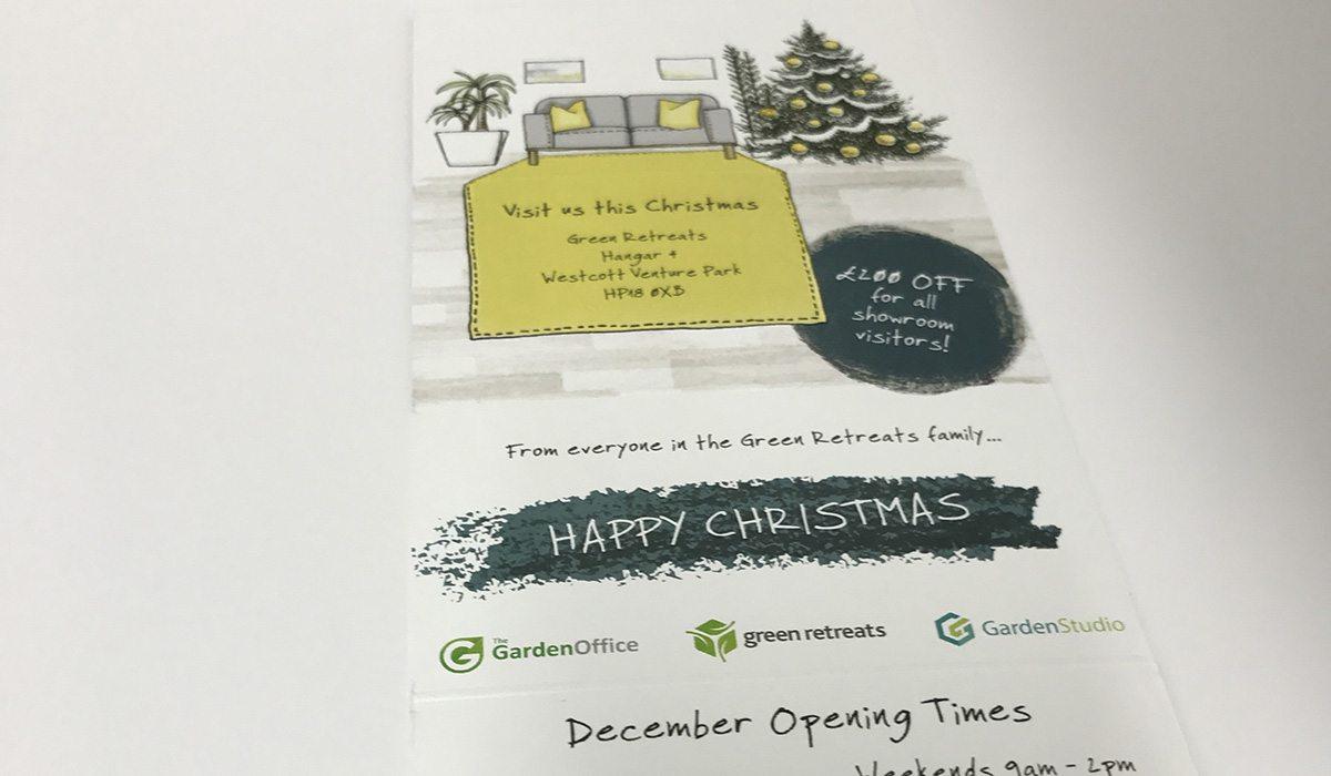 Bespoke printed 3D Mailer for Green Retreats