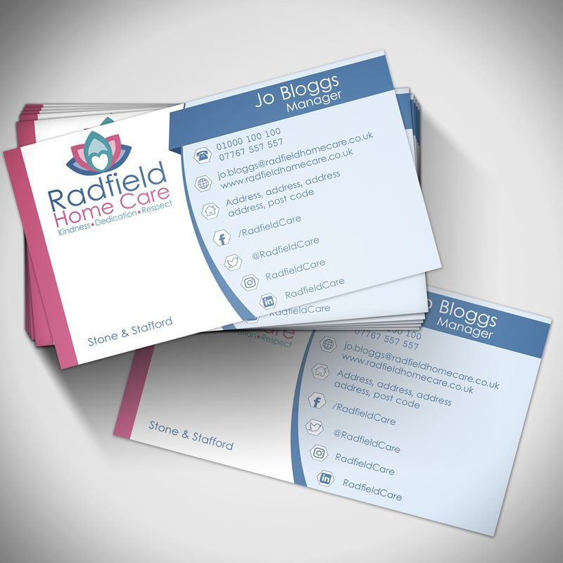 Radfield home care business cards panda press stone ltd radfield business card reheart Image collections
