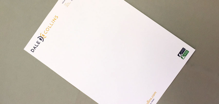 Printed corporate letterhead for a Stoke-on-Trent estate agent
