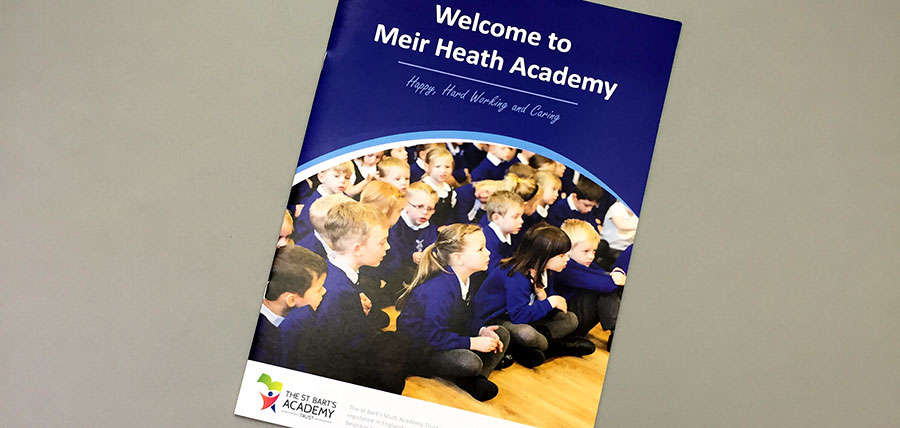 Printed school prospectus for a Staffordshire school